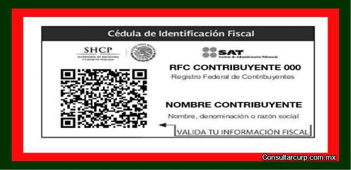 cedula de identidad fiscal rfc